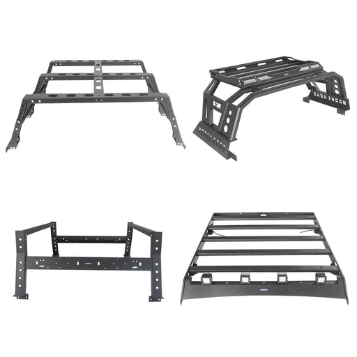 Hooke Road Roof Rack Luggage Carrier / Bed Rack Cargo Rack / Roll Bar(09-18 Dodge Ram 1500)
