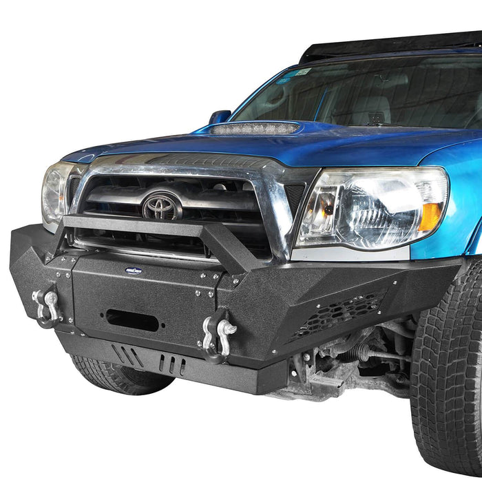 Hooke Road Toyota Tacoma Front Bumper with Winch Plate Toyota Tacoma Parts for Toyota Tacoma 2005-2015 BXG402 u-Box offroad 3