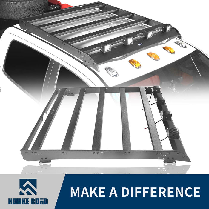 Hooke Road Toyota Tundra Crewmax Roof Rack Cargo Carrier for Toyota Tundra 2014-2019 bxg605 u-Box Offroad 1