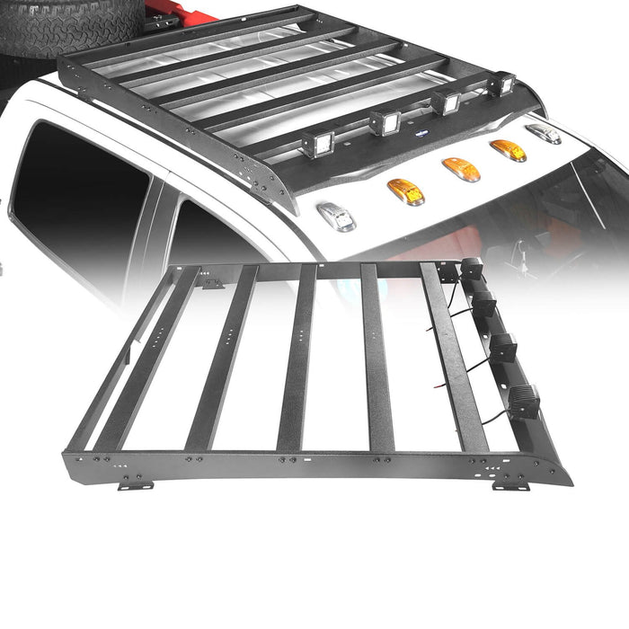 Hooke Road Toyota Tundra Crewmax Roof Rack Cargo Carrier for Toyota Tundra 2014-2019 bxg605 u-Box Offroad 2