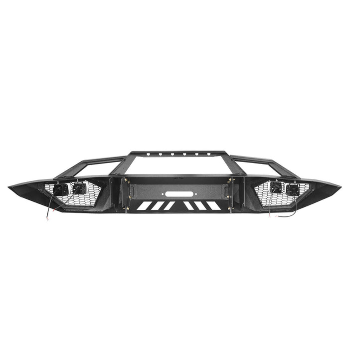 Hooke Road Toyota Tundra Front Bumper Toyota Tundra Full Width Bumper for Toyota Tacoma 2014-2019 BXG600 u-Box offroad 10