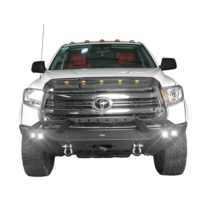 Hooke Road Toyota Tundra Front Bumper Toyota Tundra Full Width Bumper for Toyota Tacoma 2014-2019 BXG600 u-Box offroad 4