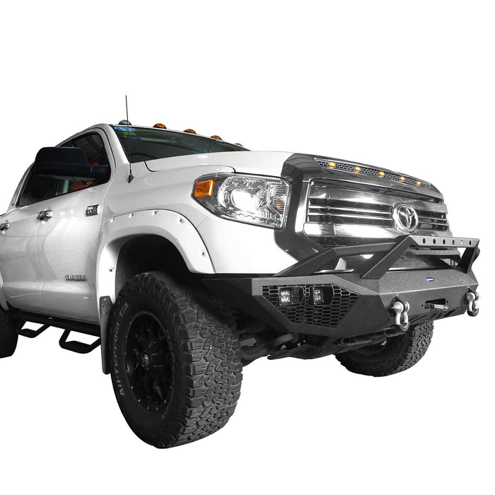 Hooke Road Toyota Tundra Front Bumper Toyota Tundra Full Width Bumper for Toyota Tacoma 2014-2019 BXG600 u-Box offroad 5
