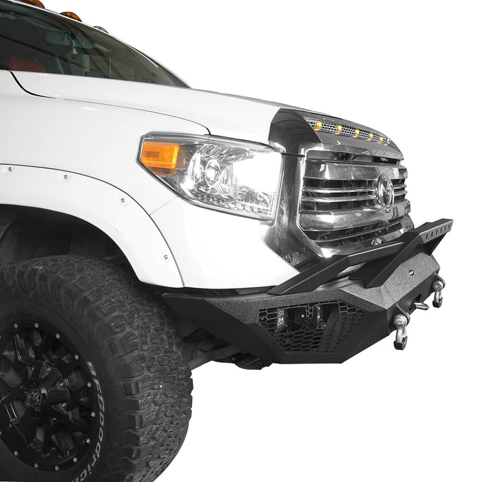 Hooke Road Toyota Tundra Front Bumper Toyota Tundra Full Width Bumper for Toyota Tacoma 2014-2019 BXG600 u-Box offroad 6