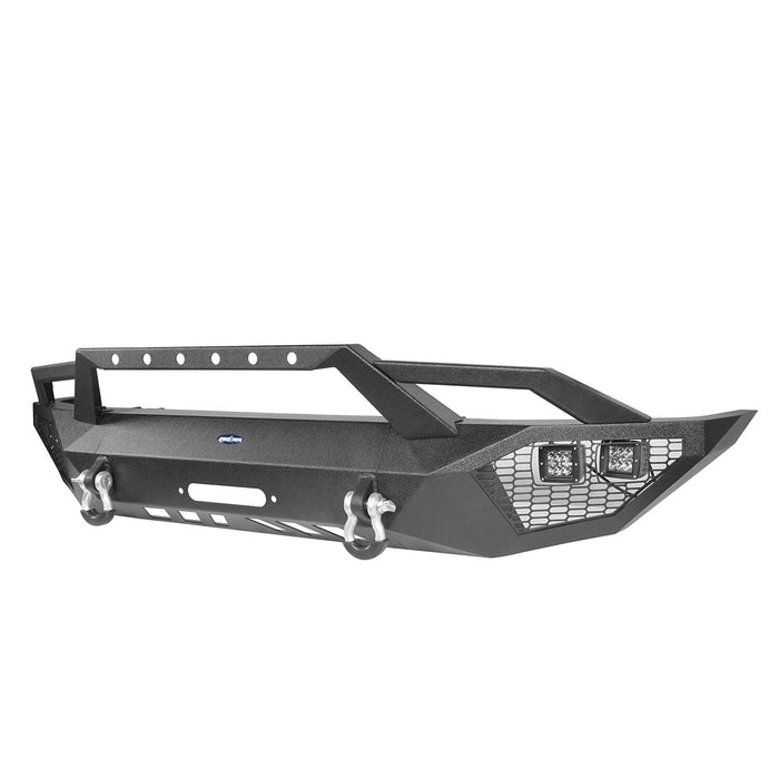 Hooke Road Toyota Tundra Front Bumper Toyota Tundra Full Width Bumper for Toyota Tacoma 2014-2019 BXG600 u-Box offroad 9