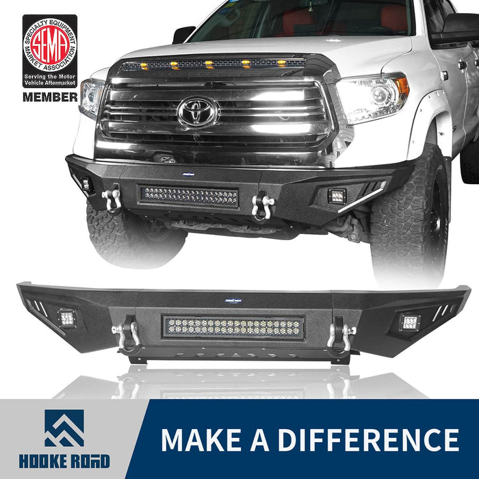 ooke Road Opar Full Width Textured Black Front Bumper for 2014-2019 Toyota Tundra Pickup BXG601 u-Box offroad 1