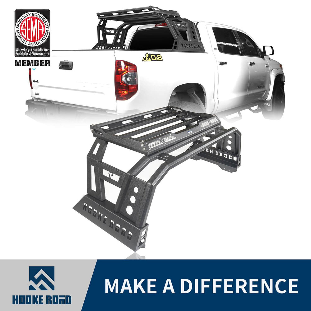 Hooke Road Toyota Tundra Roll Bar Bed Rack for 2014-2019 Toyota Tundra BXG607 u-Box Offroad 1