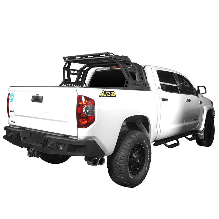 Hooke Road Toyota Tundra Roll Bar Bed Rack for 2014-2019 Toyota Tundra BXG607 u-Box Offroad 3