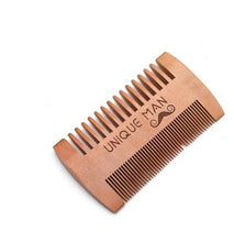 Load image into Gallery viewer, Natural Green Pear Wood Hair Brush Hair Comb For Men Beard Care  Anti-Static Wood Comb Hair Care Tools Round Brushing Brush Hair