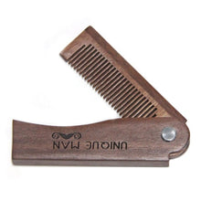 Load image into Gallery viewer, Natural Green Sandal wood Fold Comb Hair Comb For Men Beard Care  Anti-static Wooden Comb Hair Care Tools Hair Brush 1pc