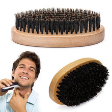Load image into Gallery viewer, Oval Shape Wood Handle Beard Brush