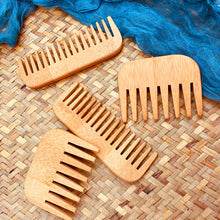 Load image into Gallery viewer, Bamboo Wooden Combs Beard Care Grooming Comb Squre Pocket Comb Moustache Combs Beard Brushes