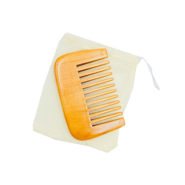 Bamboo Wooden Combs Beard Care Grooming Comb Squre Pocket Comb Moustache Combs Beard Brushes