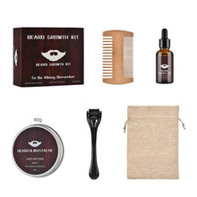 Load image into Gallery viewer, Beard Growth Kit Barbe Hair Growth Enhancer Set Beard Nourishing Growth Essential Oil Facial Beard Care with Beard Growth Roller