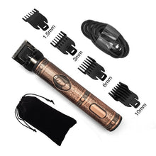 Load image into Gallery viewer, USB rechargeable ceramic Trimmer barber Hair Clipper Machine hair cutting Beard Trimmer Hair Men haircut Styling tool