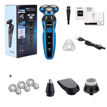 Load image into Gallery viewer, Electric Razor Electric Shaver Rechargeable Shaving Machine for Men Beard Razor Wet-Dry Dual Use Water Proof Fast Charging