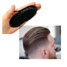 Load image into Gallery viewer, 1Pc Men Hair Comb Brush Pocket Travel Portable Beard Mustache Palm Hair Styling Tools Scalp Massage Black Shampoo Comb