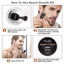 Load image into Gallery viewer, Oil Serum Derma Roller For Men Beard