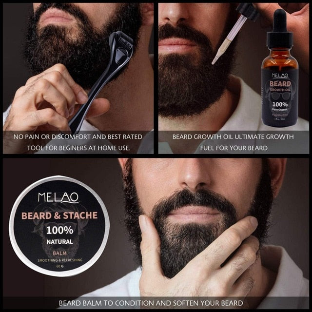 Oil Serum Derma Roller For Men Beard