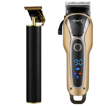 Load image into Gallery viewer, Professional Hair Clipper Men Barber Rechargeable T Blade Cutting Machine Beard Trimmer Electric Shaver Cordless Hair Cutter 5