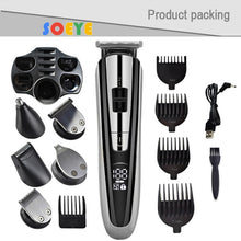 Load image into Gallery viewer, hair trimmer electric hair clipper Trimmer men's beard razor cordless haircut multi-function razor nose Hair Trimmer cut 5