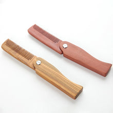 Load image into Gallery viewer, Natural Green Sandal Wood Fold Hair Comb