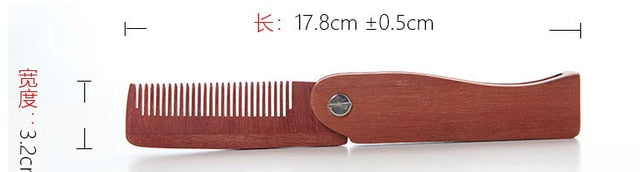 Natural Green Sandal Wood Fold Hair Comb