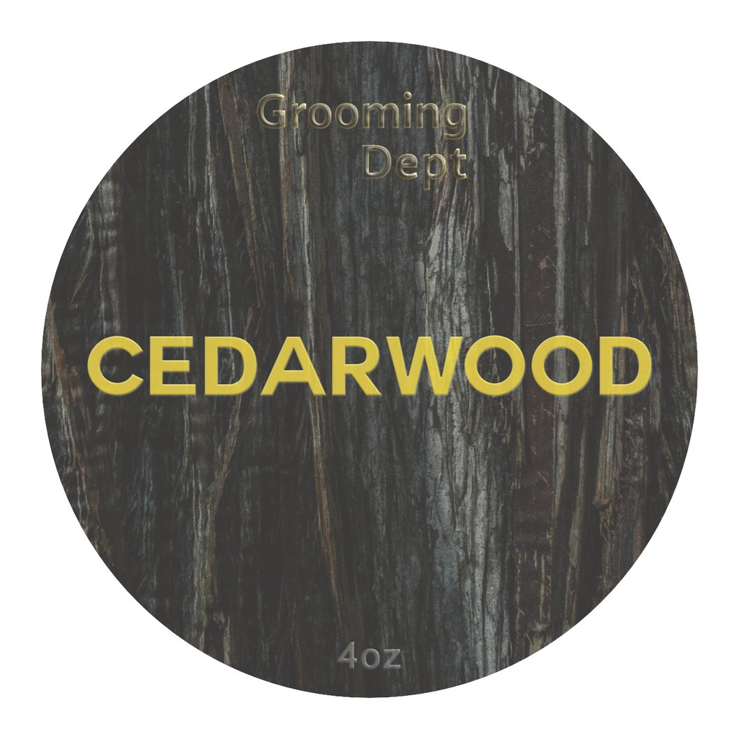 Grooming Dept- Cedarwood Astute Collection Nai Formula Vegan Shave Soap