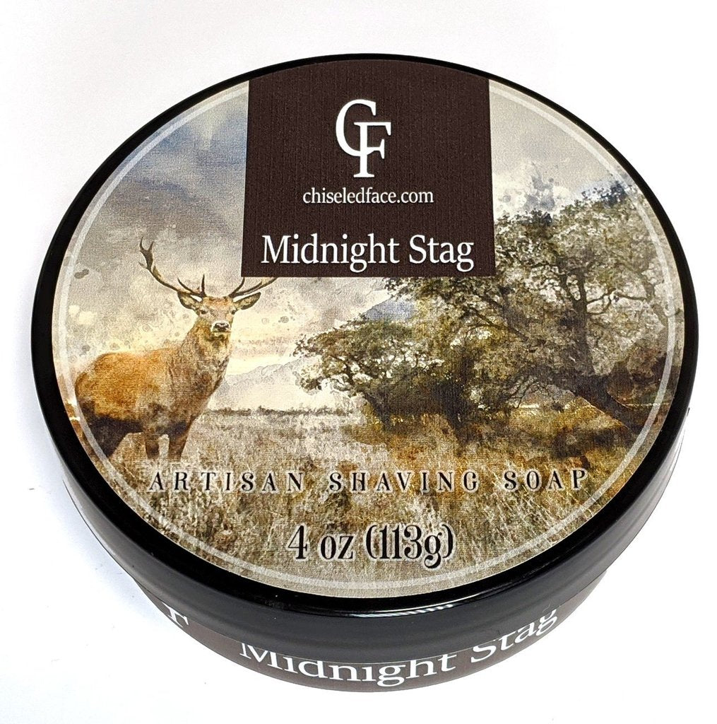 Chiseled Face Groomatorium- Midnight Stag Silk Tallow Shaving Soap