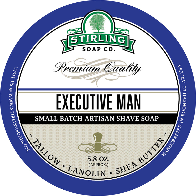 Stirling Soaps- Executive Man Shave Soap