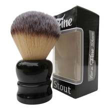 Load image into Gallery viewer, Fine 'Stout' 24mm Shaving Brush- Black