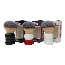 Load image into Gallery viewer, Fine 'Stout' 24mm Shaving Brush- Red and White