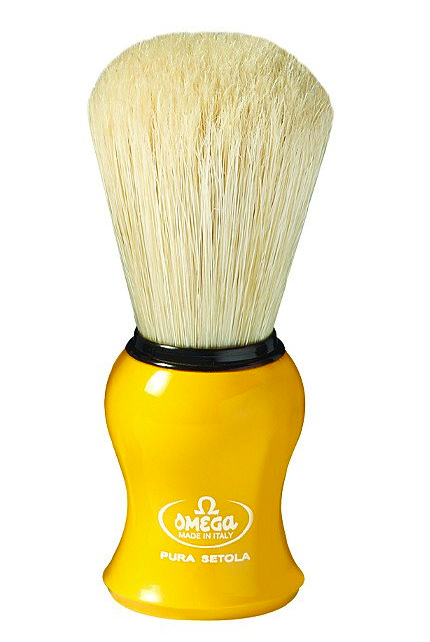Omega 10065Y Yellow Boar Bristle Shaving Brush