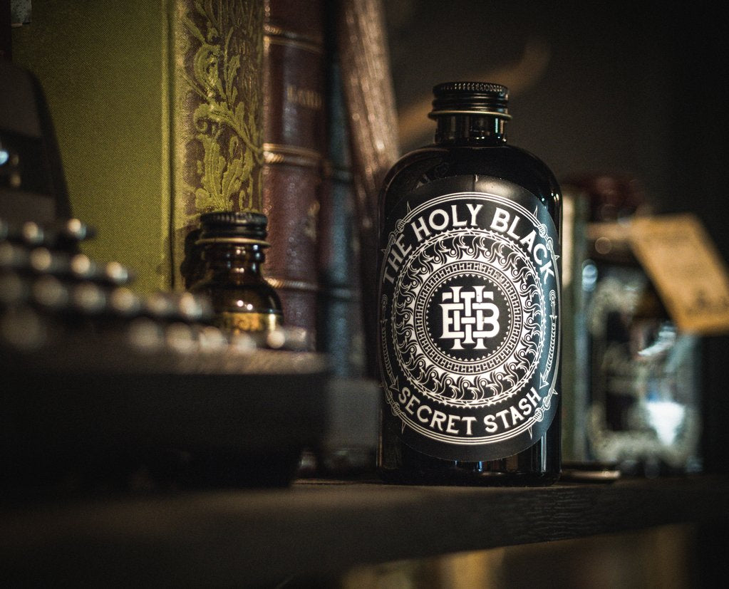 The Holy Black- Secret Stash Aftershave (Bay Whiskey Lime)