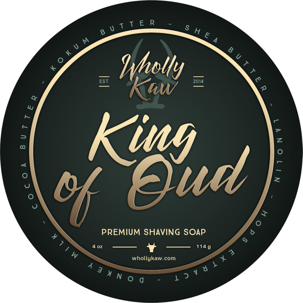 Wholly Kaw- King of Oud Shave Soap