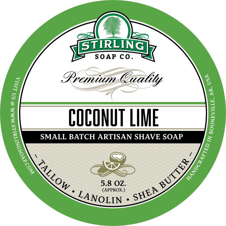 Stirling Soaps- Coconut Lime Shave Soap