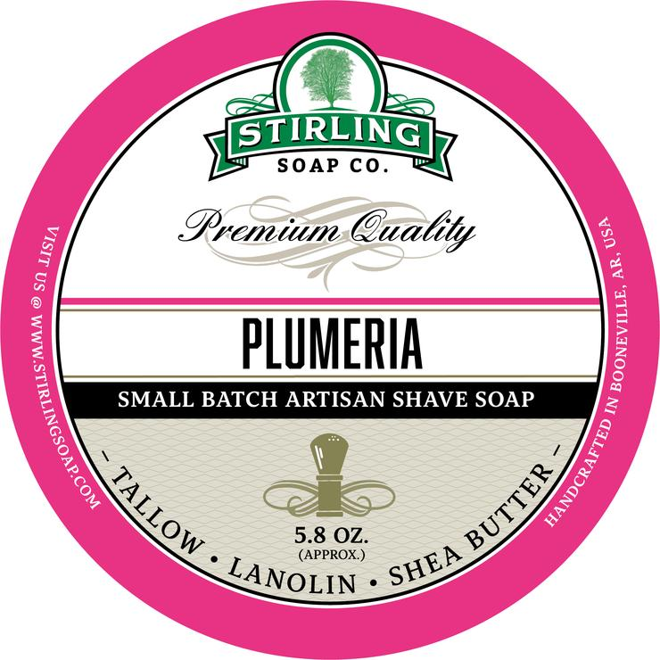 Stirling Soaps- Plumeria Shave Soap