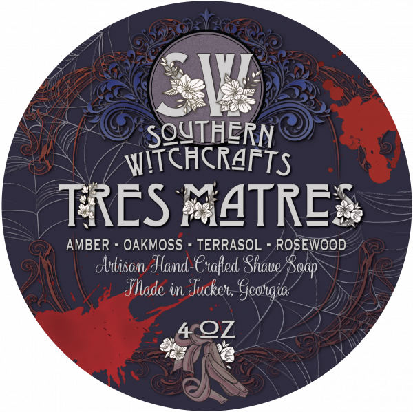 Southern Witchcrafts- Tres Matres Vegan Shave Soap