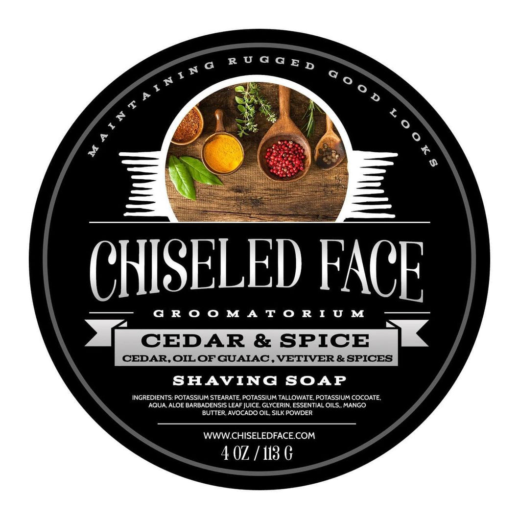Chiseled Face Groomatorium- Cedar and Spice Shaving Soap