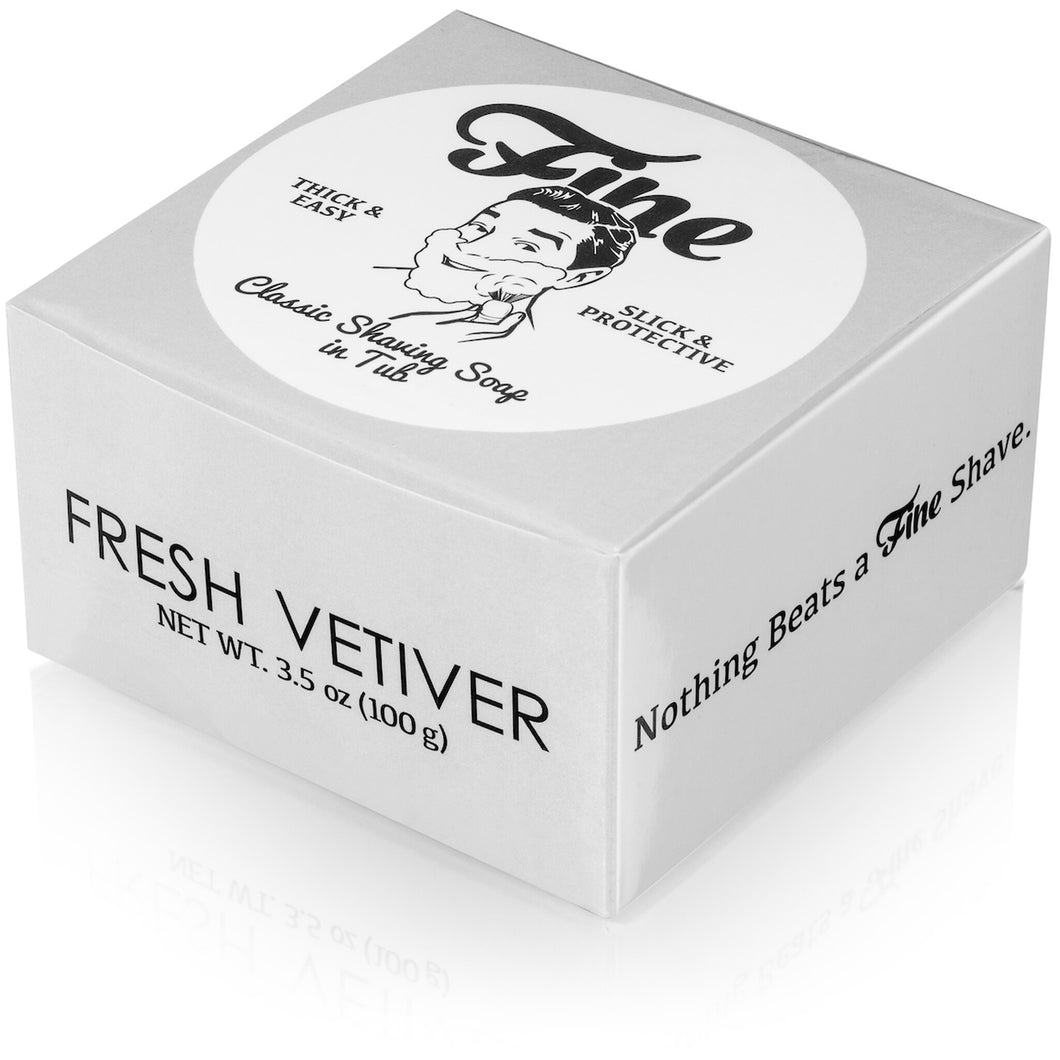 Fine Fresh Vetiver Shaving Soap