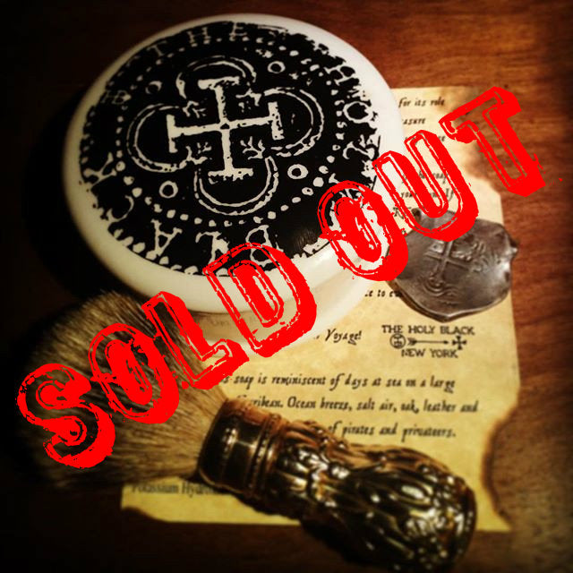 The Holy Black- Galleon Shave Soap LIMITED EDITION
