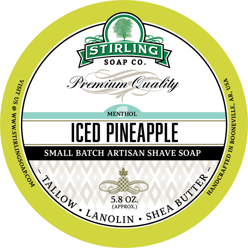 Stirling Soaps- Iced Pineapple Shave Soap (Seasonal!)