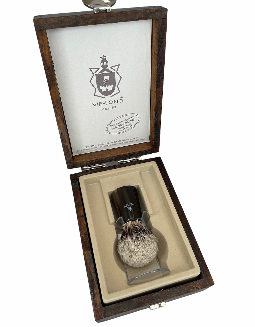 Vie Long Silvertip Badger Shaving Brush w/Horn Handle