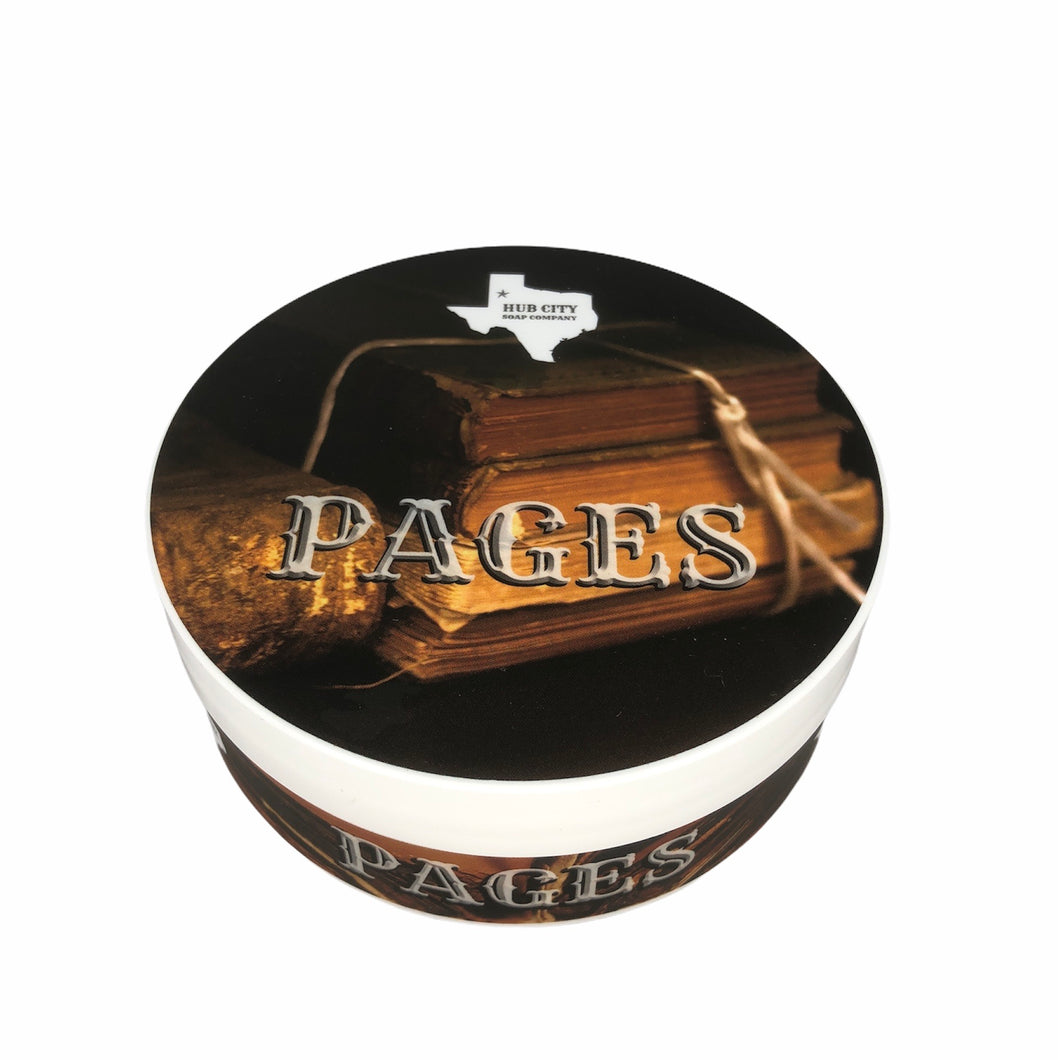 Hub City Soap Company- Pages Shave Soap