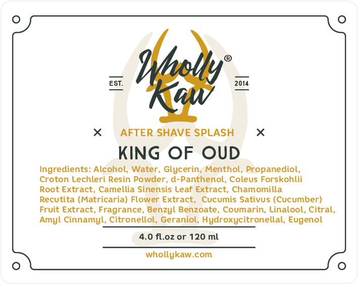 Wholly Kaw- King of Oud Aftershave Splash