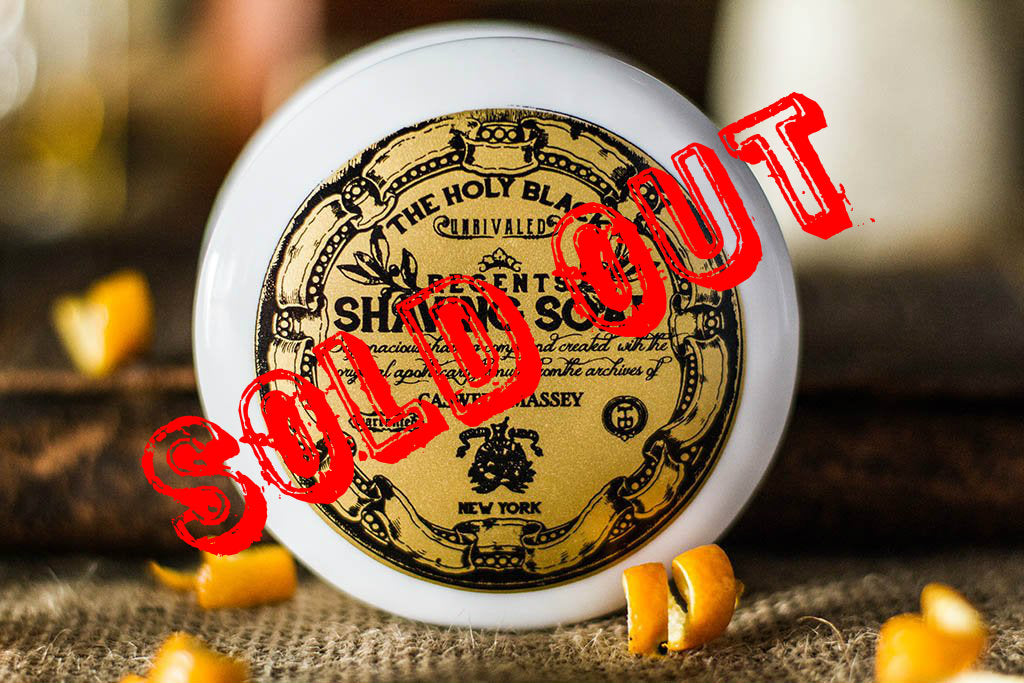 The Holy Black/Caswell Massey- Regents Shave Soap LIMITED EDITION