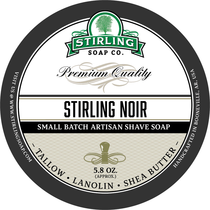Stirling Soaps- Noir Shave Soap