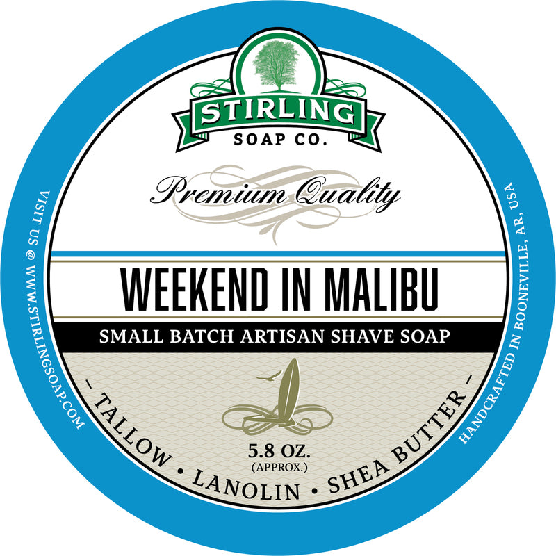 Stirling Soaps- Weekend in Malibu Shave Soap (Seasonal!)