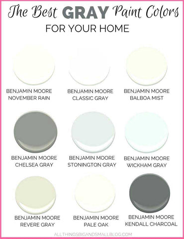 9 best gray paint colors for your home infographic with swatches