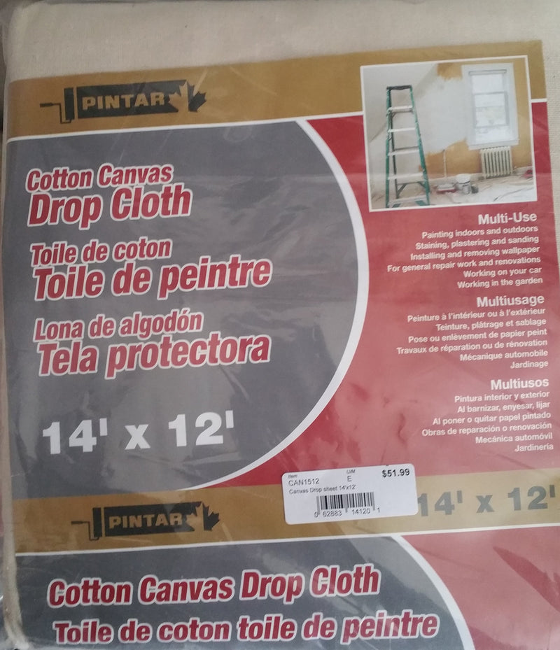 Pintar Cotton Canvas Drop Cloth - Assorted Sizes
